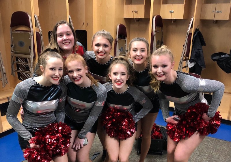 AHS Dance Team at Iowa Wild 3-2019