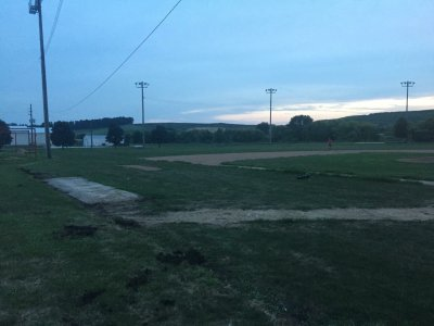 Audubon baseball field renovation before work began. Summer 2017