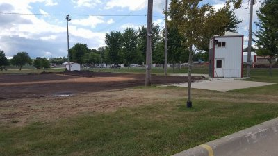 Audubon baseball field renovation home team dugout