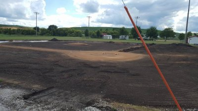Audubon baseball field renovation homeplate
