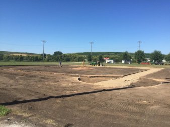 Audubon baseball field renovation infield